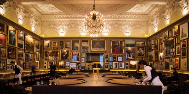 A photograph of the interior of Berners Tavern