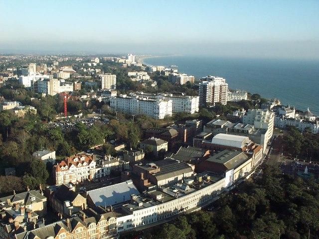Aerial shot of Bournemouth