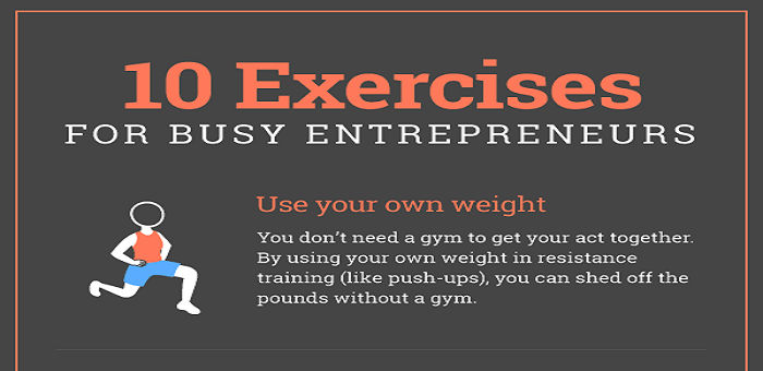 10 Quick Exercises for Busy Entrepreneurs