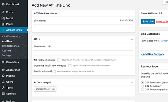 Auto link Keywords with Affiliate Links
