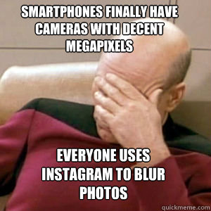 Instagram Too Much Blur Facepalm
