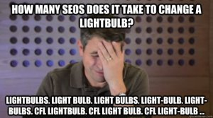 SEO Facepalm How many SEOs does it take?