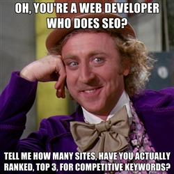 Web Developer Doing SEO How Many Top 3 Sites Do You Have