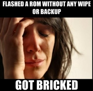Flashed Rom Without Any Wipe Or Backup Got Bricked