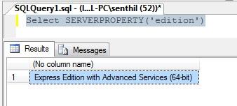 How to find the SQL Server Version with a query ?
