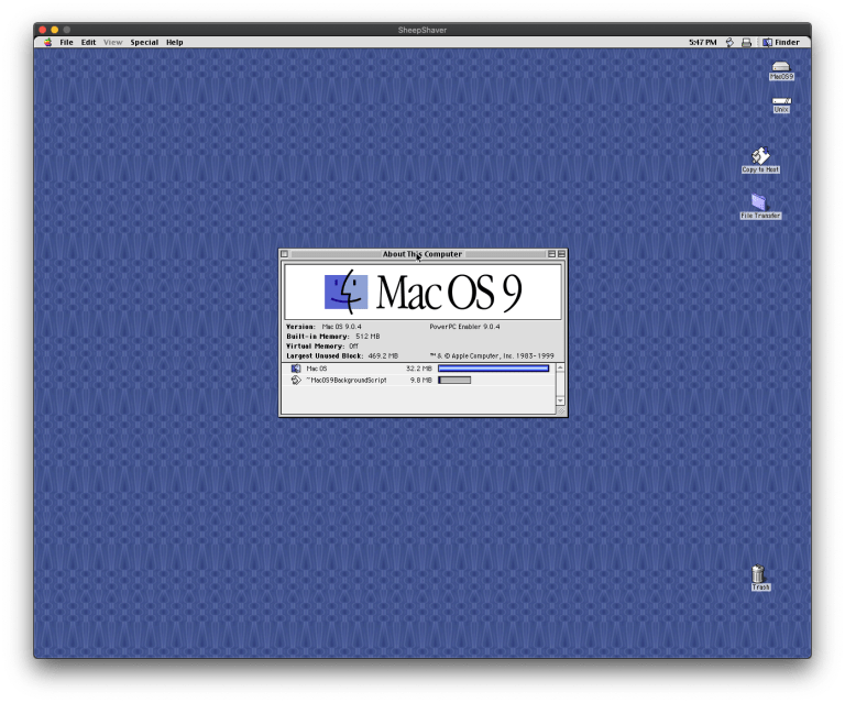 Emulating Mac OS 9 on macOS 10.15