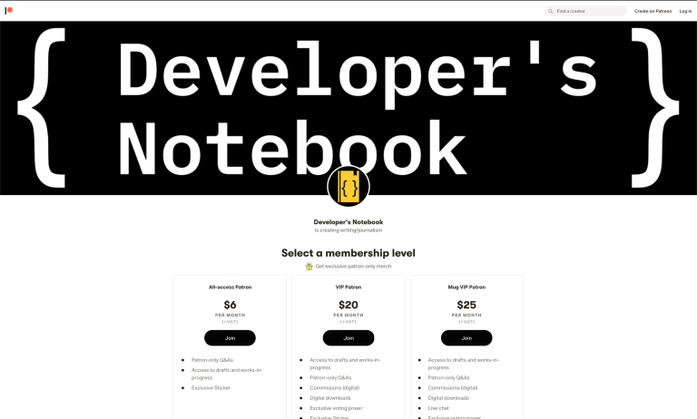 Developer's Notebook on Patreon