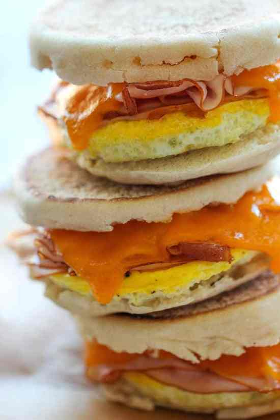Want some healthy breakfast freezer meals for two? Then make some Freezer Breakfast Sandwiches.