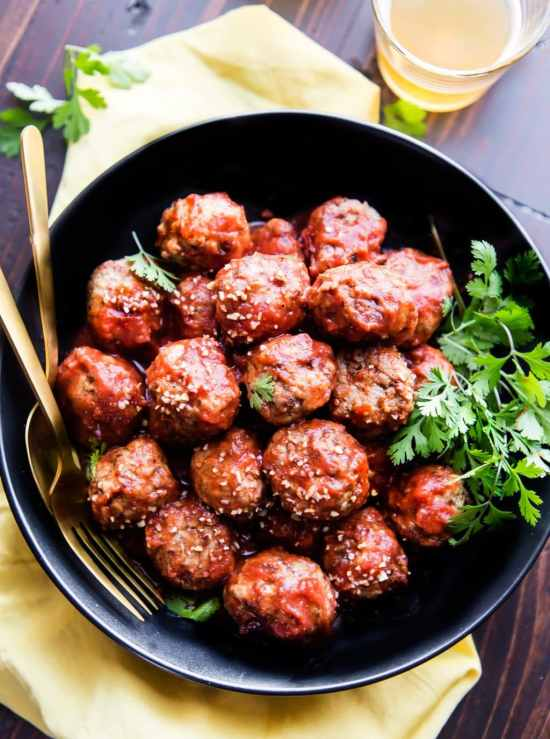 Add this meatball recipe to your list of make ahead freezer meals.