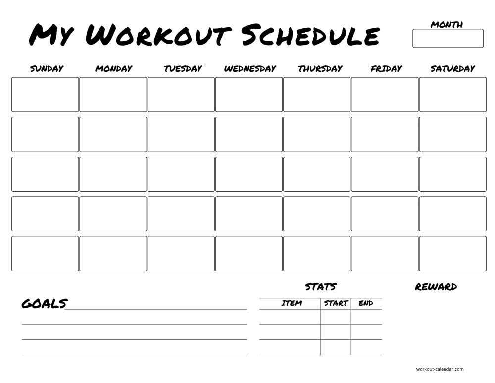 Keep your workouts on track with our personalized workout checklist and calendar when you follow our digest diet. 9 Free Workout Calendar Templates To Plan Your Exercise Habit