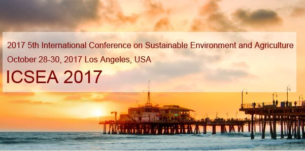 5th International Conference on Sustainable Environment and Agriculture
