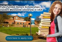 Eastern Mennonite University Honors scholarship