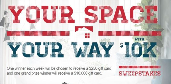 Your Space Your Way With $10k Sweepstakes