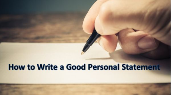 How to Write a Good Personal Statement