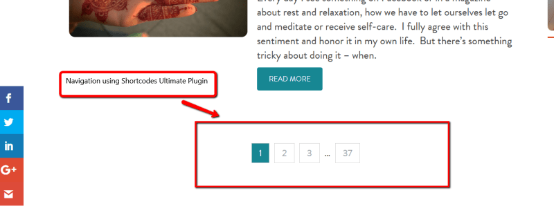 How to add Pagination Functionality to Shortcodes Ultimate Plugin ?