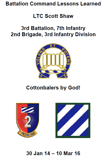 Battalion Command Lessons Learned