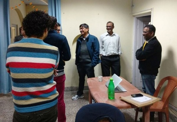 Mr. Gupta interacting with the DLS team