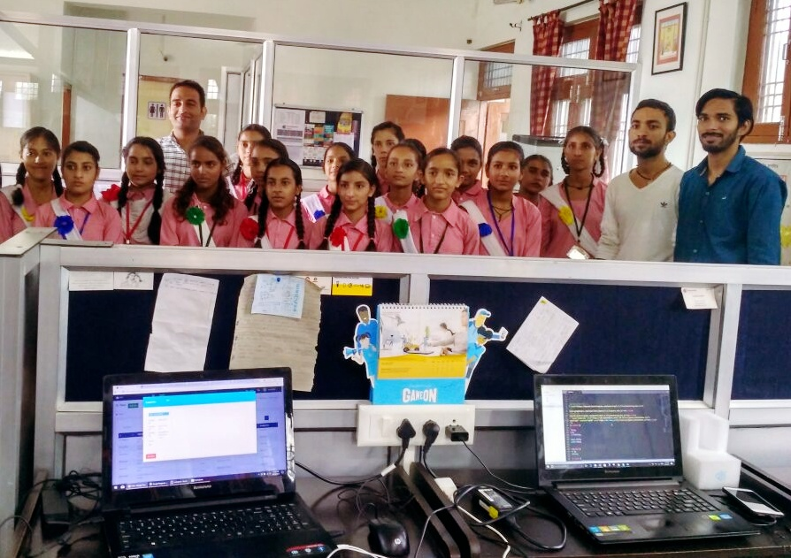 Industrial visit by students of GSSS Dari