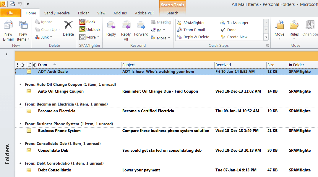 """Outlook error"""" Search doesn't display any results at all"""