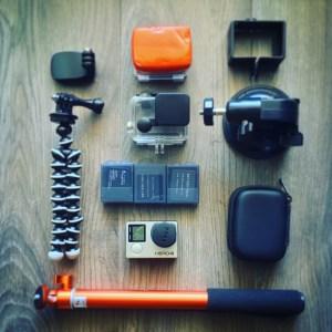 GoPro avec accessoires