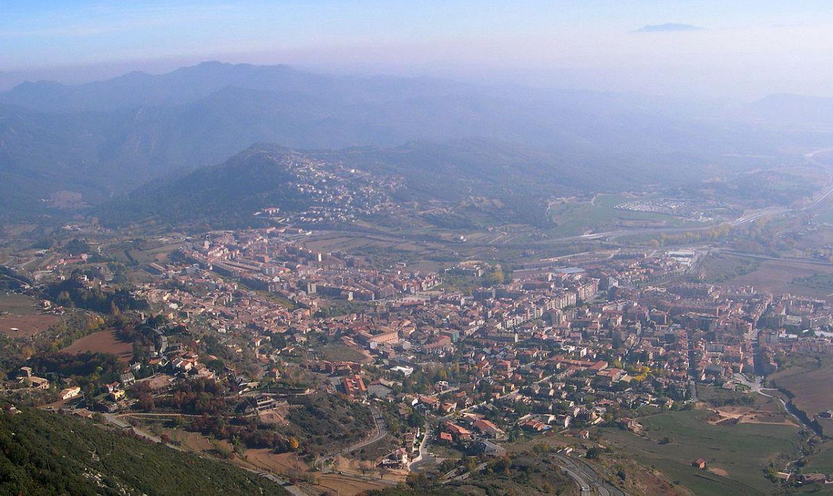 De paseo por Berga en Cataluña