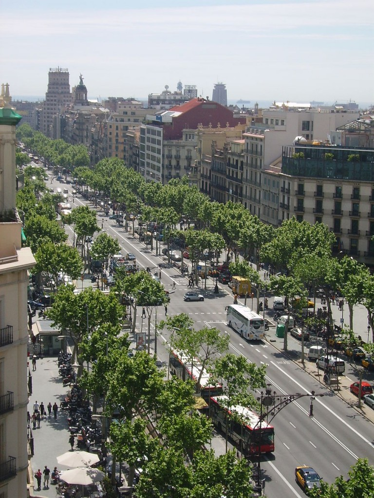 El Paseo de Gracia en la ciudad de Barcelona