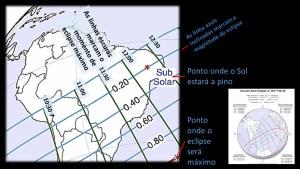 Detalhes locais do Eclipse Solar de 26/02/2017 no Brasil