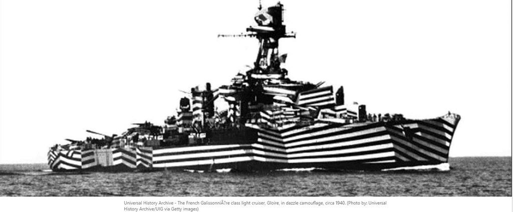 Deu zebra em alto mar, como a camuflagem dazzle deixou os navios à la Picasso