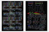 10 Glitchy Type Posters That Look Like A Photocopier Went Haywire