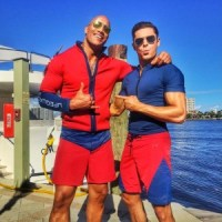 """Dwayne """"The Rock"""" Johnson places On The Swimsuit For Baywatch With Zac Efron"""