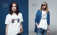 Adobe's New Stock Photo Tees Celebrate Women Laughing Alone With Salads and Firm Handshakes