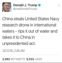China's State Media Has Been Mocking Donald Trump's 'Unpresidented' Tweet