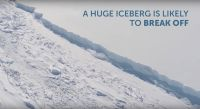 British scientists film massive rift in Antarctic ice shelf