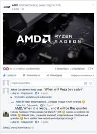 AMD Vega Release Date Confirmed for Q2 2017, Company Reveals Launch Details on Facebook