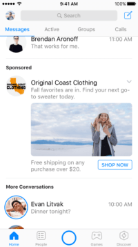 Facebook expands test to show News Feed-like ads in Messenger globally
