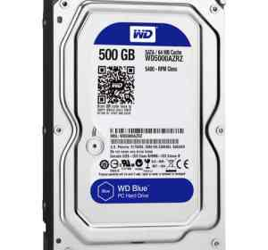 "WD 500GB Blue 3.5"" SATA Desktop Internal Hard Drive"