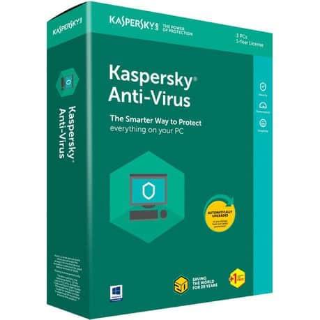Kaspersky Antivirus 3 User + 1 Year