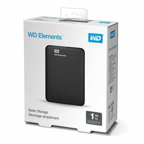 WD 1TB Elements USB 3.0 External Hard Drive