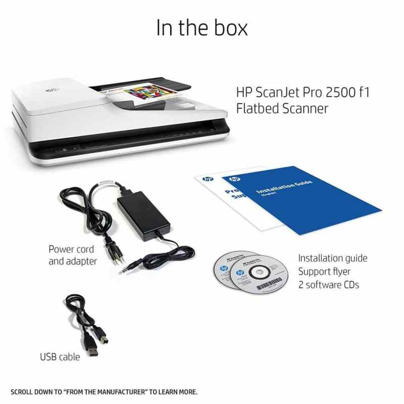 HP ScanJet Pro 2500 plus accessories