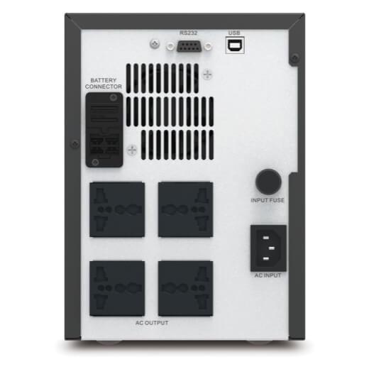APC Easy UPS SMV 1500 VA, universal socket, 230 V (SMV1500AI-MS)_Connectors