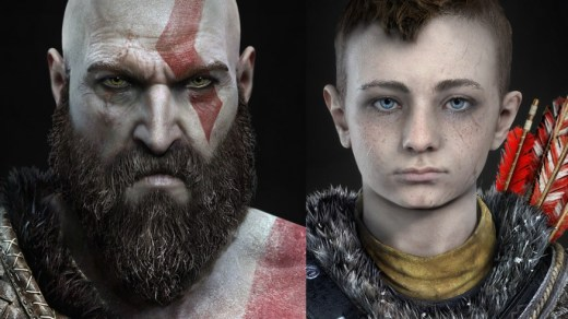 Kratos e figlio in God of War