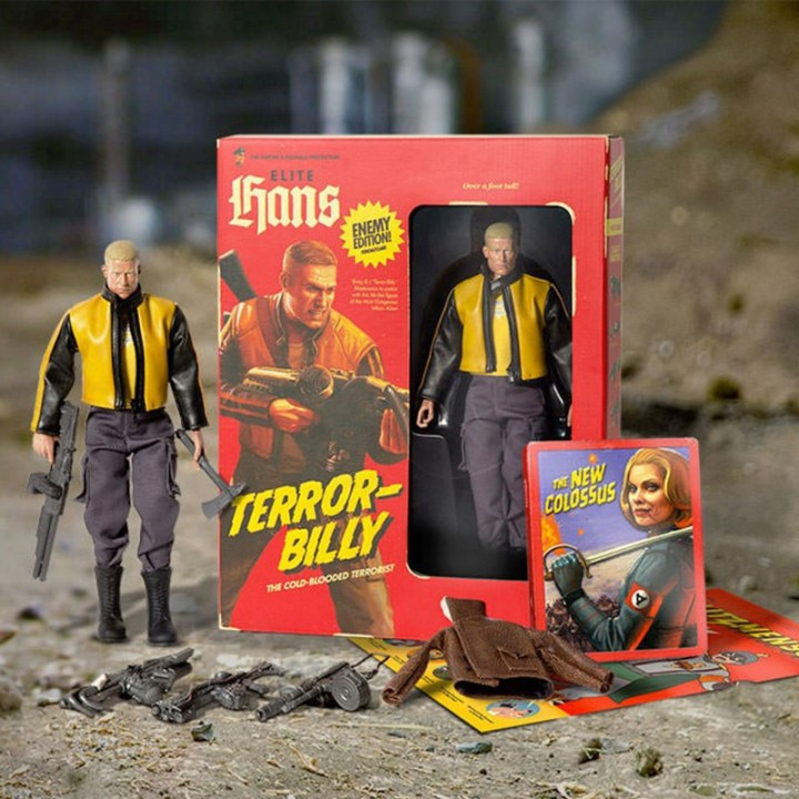 wolfenstein 2: action figures del protagonista