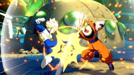 Goku vs Vegeta, in forma super sayan