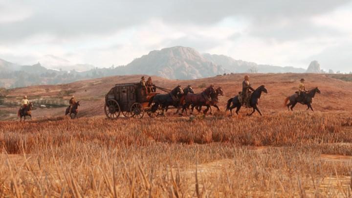 red dead redemption 2 : carovana in viaggio tra le steppe americane