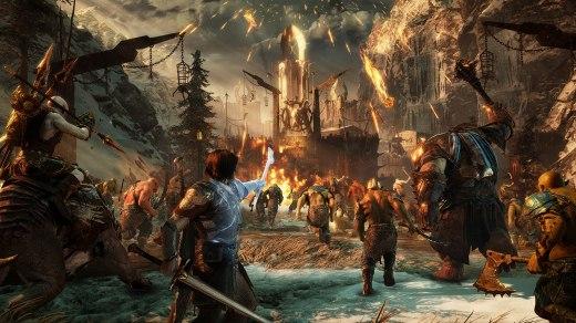 La Terra di Mezzo: L'Ombra della Guerra, scena di un assalto al castello