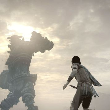 Colosso umanoide nel remake di Shadow of the Colossus