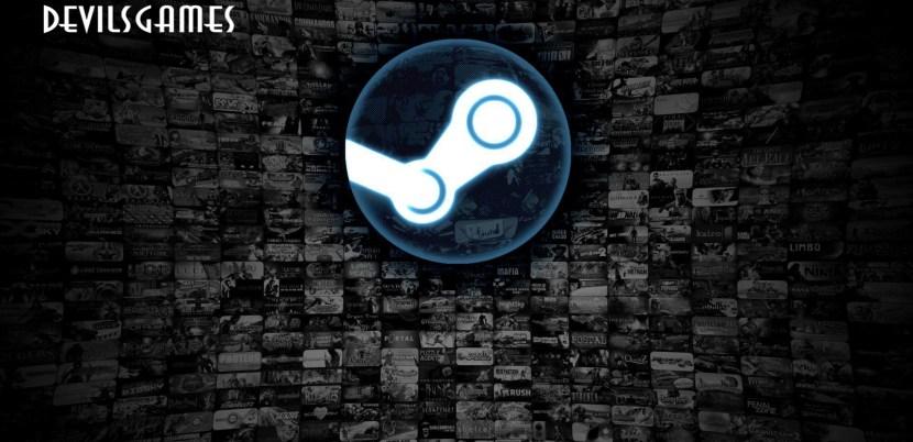Logo Steam integrato al logo DevilsGames