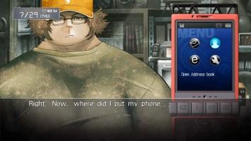 steins;gate: interfaccia di dialogo con telefono annesso