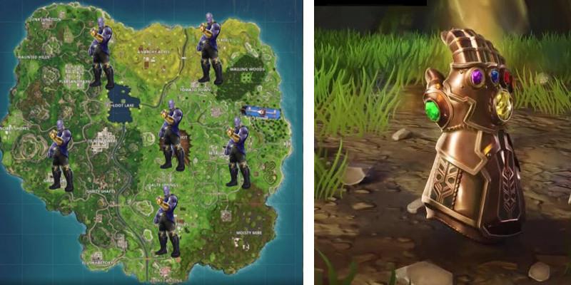Dove trovare Thanos su Fortnite: tutte le posizioni del Guanto dell'Infinito