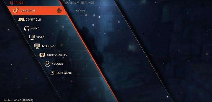 Anthem: Cortex, schermata principale